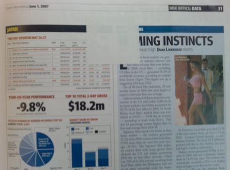 Überklebte Ausgabe von Screen International